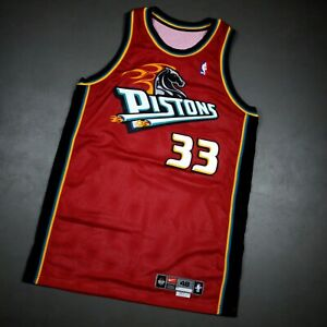 100% Authentic Grant Hill Vintage Nike 99 00 Detroit Pistons Game Jersey