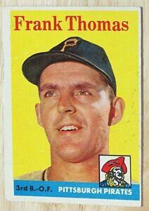 1958 TOPPS BASEBALL SET, #409 Frank Thomas, Pittsburgh Pirates, VG st