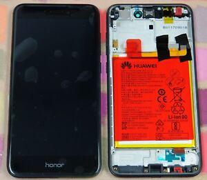 GENUINE BLACK HUAWEI HONOR 8 LITE  P8 LITE 2017 PRA-L21 LCD SCREEN DISPLAY FRAME