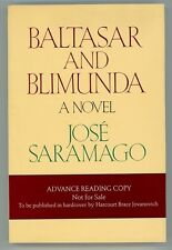 Baltasar and Blimunda by Jose Saramago 1st US ed, 1st US pub for author (SOFTCOV
