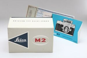 Near Mint Leica M2 Box Only with Manuals #M1409