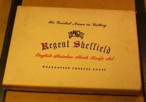 vintage Regent Sheffield knives set of six