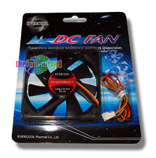 Evercool 80mm x 15mm 5v 3 pin Ball Bearing Fan + Screws EC8015M05CA  USA SELLER