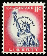 1961 11c Statue of Liberty, In God We Trust Scott 1044a Mint F/VF NH