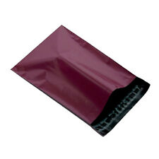 """100 Burgundy 10""""x14"""" Mailing Postage Postal Mail Bags"""
