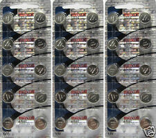 30 Pack Maxell LR44 AG13 357 Button Cell Battery NEW HOLOGRAM PACKAGE