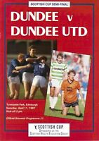 1987 SCOTTISH CUP SEMI-FINAL - DUNDEE v DUNDEE UNITED