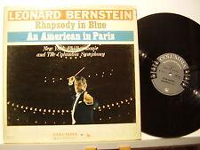 LEONARD BERNSTEIN disco LP 33 giri GERSHWIN RHAPSODY IN BLUE Made in USA