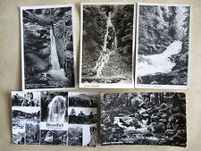 5x Wasserfall Wasserfälle Waterfall Waterfalls Fall Falls Lot DDR Karten 1950/60