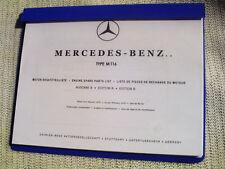 Mercedes M116 ENGINE SPARE PARTS LIST 280SE/C 3.5L 280 SEC W111 .026 .027 Manual