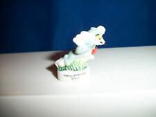 TOM CAT RUNNING CRAZY TONGUE OUT Mini Figurine Porcelain FEVES Figure & Jerry