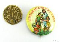 LUTHERAN SUNDAY SCHOOL Vintage Church Service VBS PINS