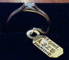 9ct Gold Yellow Gold Diamond Ring