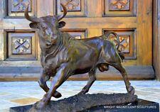 Bronze Stier Bronze Figur Bronzeskulptur Bronzefigur Bronze Bulle signiert Barye