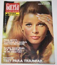 GACETA ILUSTRADA #869 1973 Senta Berger David Niven Watergate Paul Getty London