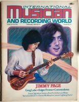 INTERNATIONAL MUSICIAN & RECORDING WORLD Magazine February 1982 Jimmy Page