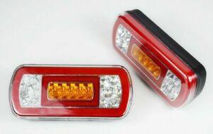 2x LED Rear Tail Lights Lamps Car Trailer Camper Bus Van 12V NEON Modern Lights