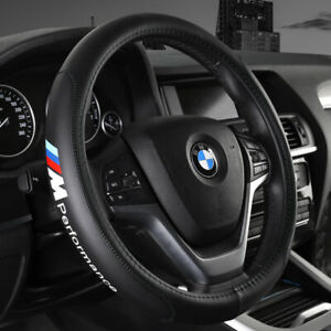 "15"" Car Steering Wheel Cover Genuine Leather For BMW Fashion"