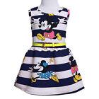 Enfant Fille Minnie Mouse Robe soirée été dessin animé Jupe tout-petit de soleil