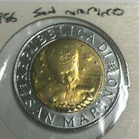 1996 San Marino 500 Lire - Uncirculated