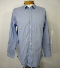 BURBERRY LONDON LONG SLEEVE DRESS SHIRT TAILORED SIZE 17 1/2 44 R BLUE STRIPED
