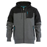 OX Tech Zipped Work Hoodie Grey Hooded Jumper (Sizes S-XXL) Men's Coat