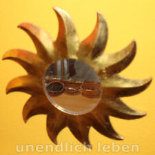 Sonnenspiegel - Goldfarbe (!) - Holz Sonne Feng Shui Wand Deko Spiegel Wandbild