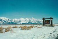 Grand Teton National Park FOUND PHOTOGRAPH Original Snapshot VINTAGE 98 11 R