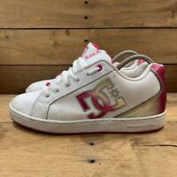 DC Shoes Womens Cosmo SE Skate White Pink Low Top Lace Up Sneakers 9 M