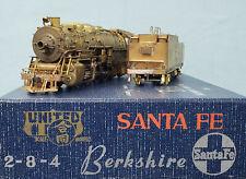 PFM/United - Brass HO Scale - Santa Fe 2-8-4 Berkshire Locomotive
