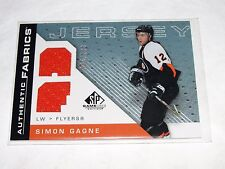 2007-08 SP Authentics SIMON GAGNE Game Worn Jersey SP/100 Philadelphia FLYERS