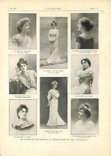 Lauréates Concours du Conservatoire de Chant Opéra-Comique Paris  GRAVURE 1901