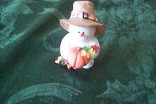 "Sarah's Attic Snowonders 6410 ""Leif "" Snowman Thanksgiving Pilgrim"