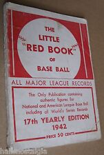 """1942 """"The Little Red Book of Baseball"""", All Major League Records, 17th Edition"""