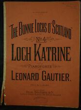 The Bonnie Lochs O' Scotland No.4 'Loch Katrine' for Pianoforte by L.Gautier
