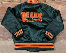 VTG 80s Chicago Bears Chalk Line Kids Sz 5 Satin Jacket Bomber Blue NFL RARE B17