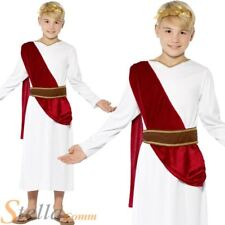 Boys Roman Costume Toga Fancy Dress Greek Emporer Caesar King Child Outfit