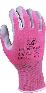 Ultimate Gardener NCN 740 Nitrile Palm Gardening Gloves - Pink or Green