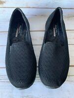 Skechers Black Reggae Fest Willows Slip On Shoes Women's Size 9.5 NEW