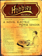 Vintage Hobbies Weekly Magazine, Nov 1942 No2455  Electric Morse sender
