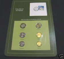Münzsatz Rusia rumbo monedas juego de 1992 monedas rubles + sello en caja de cartón
