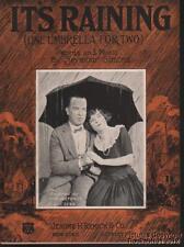 1923 Seymour Simons Notenblatt ( It´S Raining eine Regenschirm für Zwei