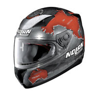 CASCO INTEGRALE NOLAN N60-5 GEMINI C. CHECA - 27 Scratched Chrome TAGLIA M