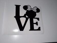 Love Mini Mouse Coche Decal/Pegatinas para coches furgonetas portátiles, ventanas de coche, parachoques