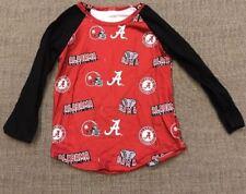 Alabama Crimson Tide Long Sleeve Tee Red Logo Great Gift Christmas Boys or Girls