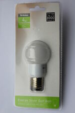 Pack 6 x Wickes 4w E27 G45 Opal Golfball Low Energy Saver Bulb Warm White 200lm