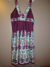 WOMEN'S KAS DESIGNS SUNDRESS TURQUOISE EGGPLANT LARGE NWT