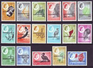 Swaziland 1968 SC 143-159 Set MNH Independence