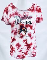 Outback Trading Company. Rodeo Girl Red Tie-dye Womens Large NWOT