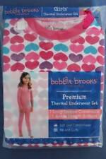 NEW Girls Thermal Underwear Set Shirt Pants Small 6 - 6X Hearts Long Johns Top B